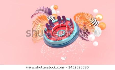 Raft - 3D render Stock photo © Elenarts