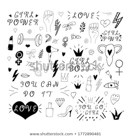 Power icons set Stock photo © ylivdesign