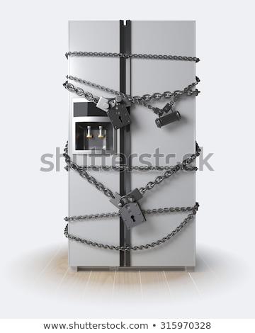 Locked Refrigerator Stok fotoğraf © denisgo