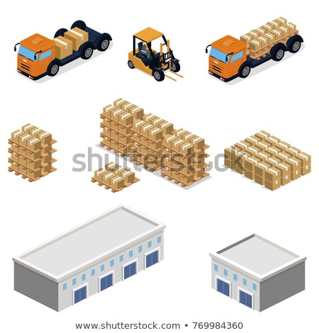 warehouse concepts   set of 3d illustrations stock photo © tashatuvango