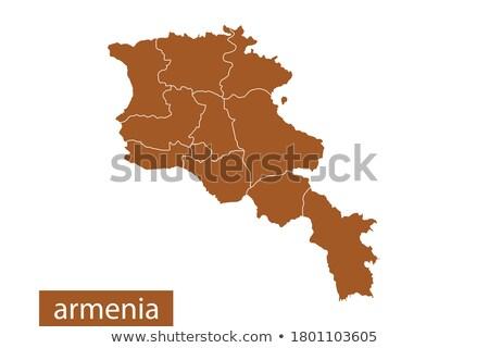 orange button with the image maps of  Iran  Stock photo © mayboro