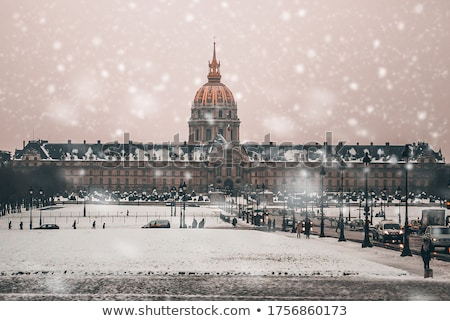Les Invalides building in Paris Stock photo © AndreyKr