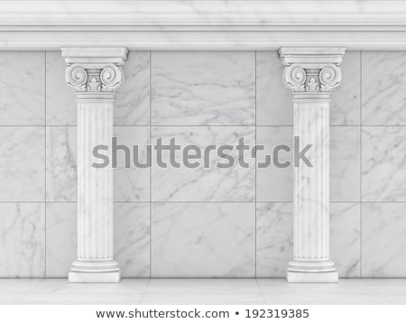 Classical Greek or Roman Ionic column Stock photo © m_pavlov