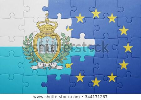европейский Союза Сан-Марино флагами головоломки изолированный Сток-фото © Istanbul2009