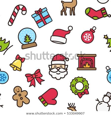зима · Рождества · иконки · с · Новым · годом · праздник · коллекция - Сток-фото © vectorikart