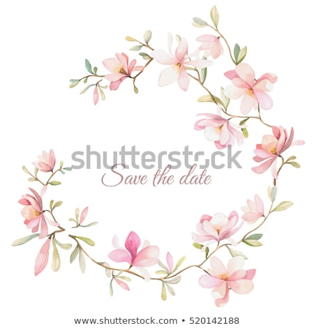 Flower watercolor wreath for beautiful design Stock photo © Elmiko