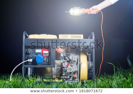 portable electric power plant  Stock photo © OleksandrO