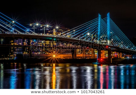 Downtown Portland cityscape in the evening Stock photo © AndreyKr