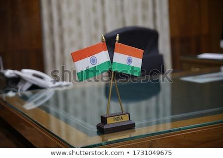 Indian tricolor banderą ilustracja wysoki Zdjęcia stock © vectomart