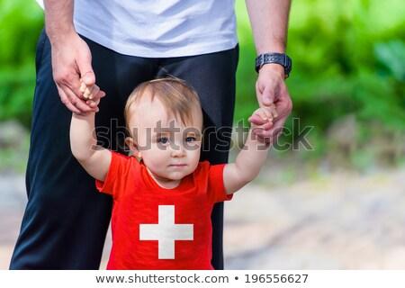 Switzerland flag on shirt Stock photo © fuzzbones0