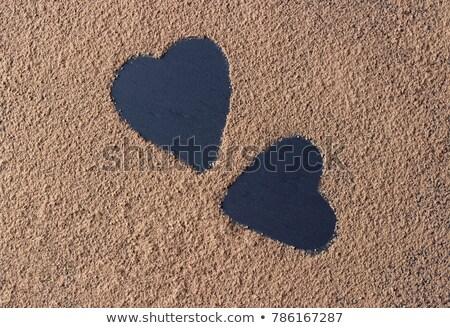 Iki kalpler siyah bağbozumu doku sevmek Stok fotoğraf © stickasa