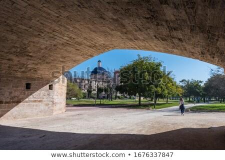 Valencia rivier park museum koepel Spanje Stockfoto © lunamarina