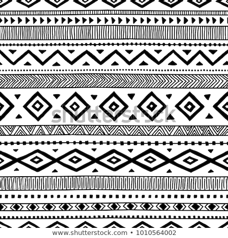 Foto stock: Vector Seamless Abstract Tribal Pattern