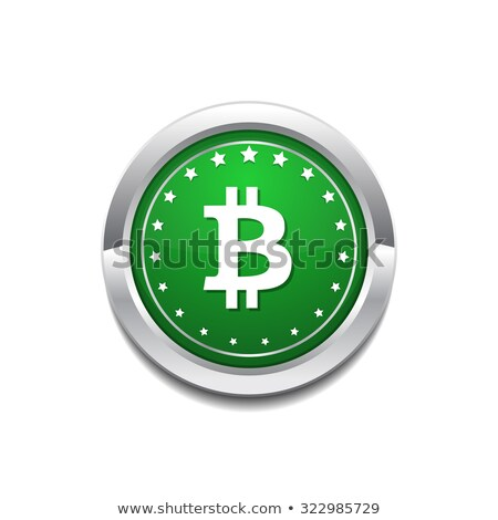 Bit Coin GreenVector Icon Button Stock photo © rizwanali3d