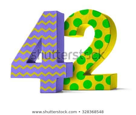 Colorful Paper Mache Number on a white background  - Number 42 Stock photo © Zerbor