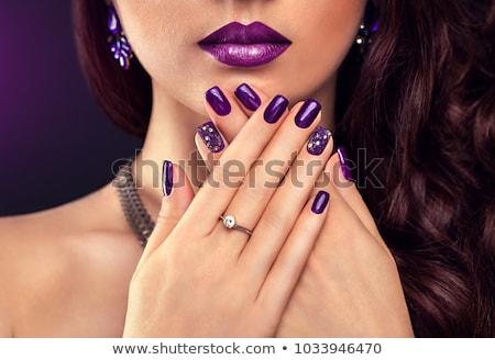 vrouw · paars · cocktail · ring · bruid · bruiloft - stockfoto © dolgachov