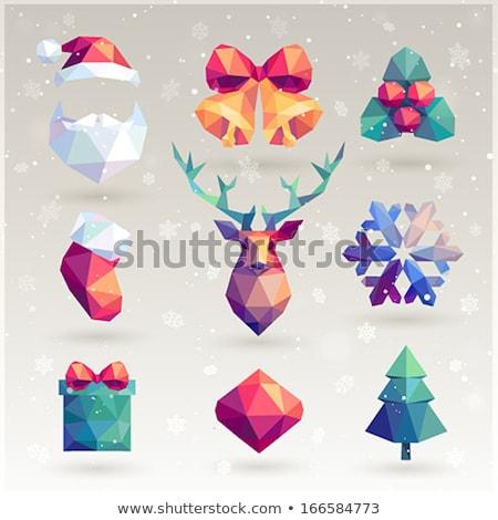abstract · 3D · vector · sneeuwvlok · geïsoleerd · witte - stockfoto © beaubelle
