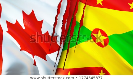 Canada and Grenada Flags Stock photo © Istanbul2009