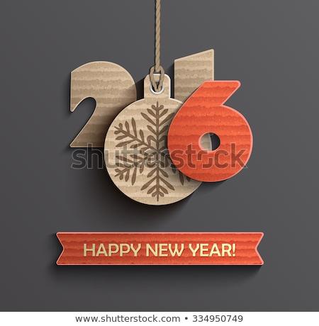 с · Новым · годом · 2016 · приветствие · 3D · стиль · счастливым - Сток-фото © rizwanali3d