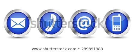 ベクトル 青 ウェブのアイコン ボタン ストックフォト © rizwanali3d