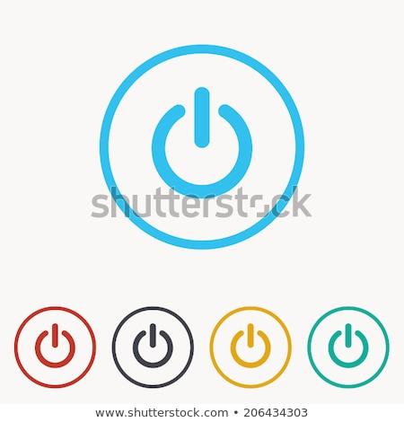ストックフォト: キー · にログイン · 青 · ベクトル · アイコン · ボタン