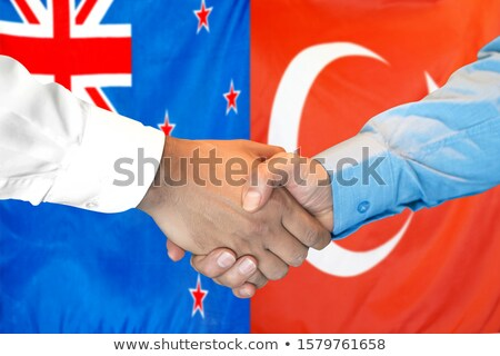 Turkey and New Zealand Flags Stock photo © Istanbul2009