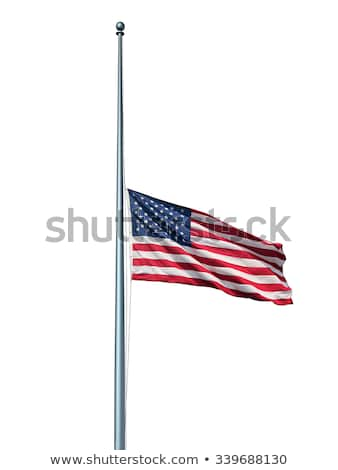 Half Mast US Flag Isolated Stock photo © Lightsource