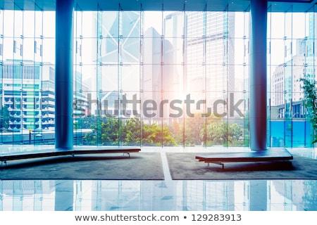 Blauw business hal huis gebouw stad Stockfoto © Paha_L