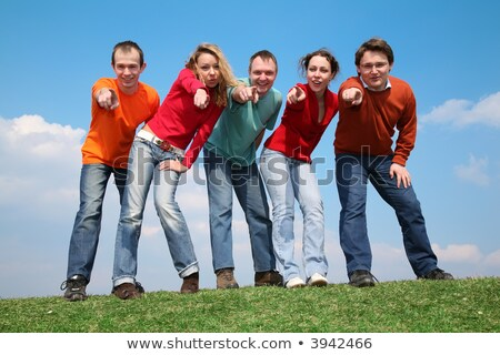 people on the grass, they indicate you Stock photo © Paha_L