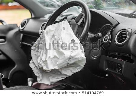 Airbag samochodu wypadku podziale bezpieczeństwa awaryjne Zdjęcia stock © manfredxy