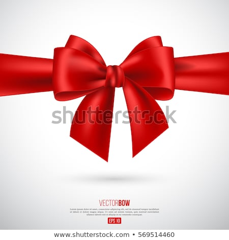 Red ribbon and bow. EPS 10 Stock photo © beholdereye