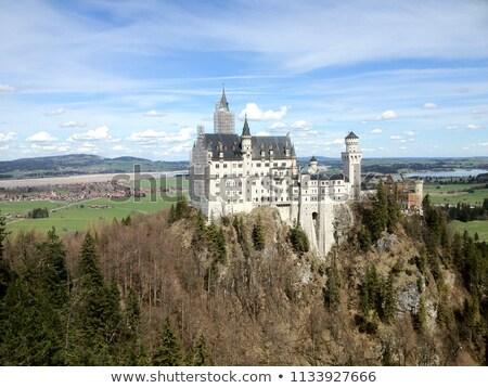 Neuschwanstein castle in clearing clouds Stock photo © meinzahn