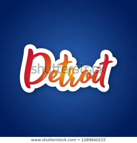 Detroit texto pesado Cartoon nombre ciudad Foto stock © blamb