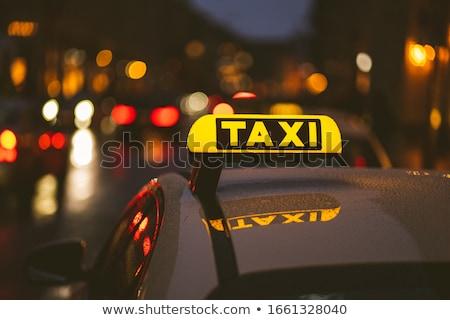 Сток-фото: такси · ночь · текстуры · город · службе · фары