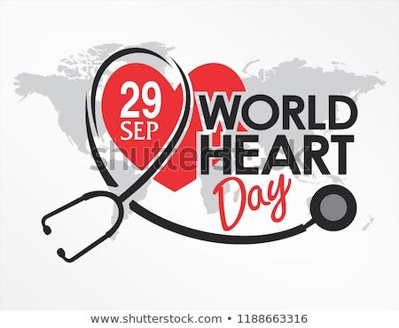 desenho · batimento · cardíaco · coração · lápis · medicina · pintura - foto stock © shawlinmohd
