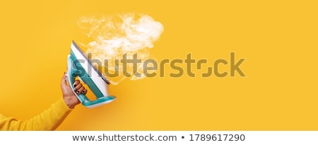 Gőz vasaló vektor valósághű fehér víz Stock fotó © kovacevic
