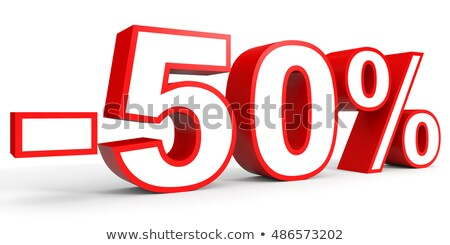 tasfiye · 50 · yüzde · alışveriş · sepeti · tok · sayılar - stok fotoğraf © idesign