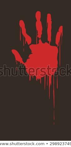 Sanglante main blanche sang fond rouge Photo stock © kb-photodesign