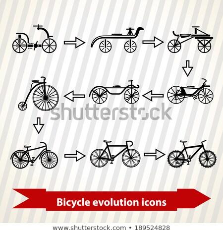 Bicicletta evoluzione icone illustrazione sfondo velocità Foto d'archivio © Yuriy