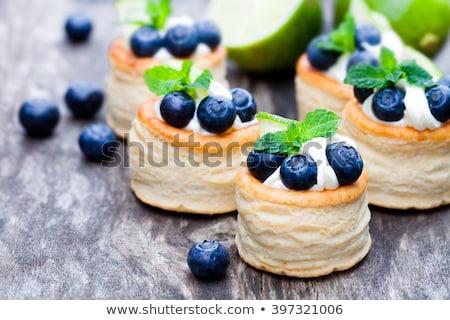Stockfoto: Room · vers · fruit · gebak · shell · vruchten · Rood