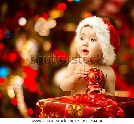 Kép aranyos baba ünnep dekoráció fehér Stock fotó © fanfo