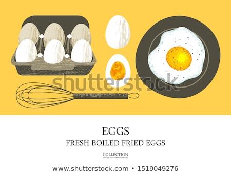 Eggs in cardboard box Stock photo © stevanovicigor