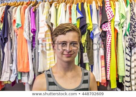 Erkek alışveriş Miami okyanus sürmek gülümseme Stok fotoğraf © meinzahn