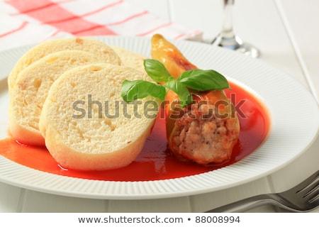 Pork meat in tomato sauce with dumplings Stock photo © Digifoodstock