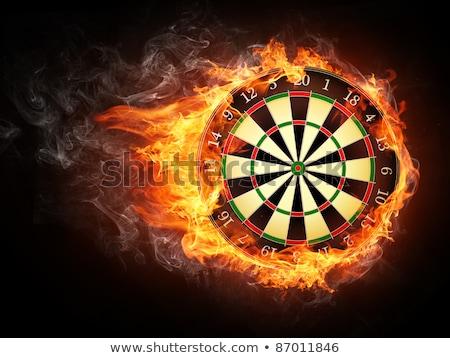 Yanan pens tahta örnek yangın göz Stok fotoğraf © bluering