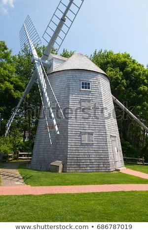 Bakker windmolen zuiden USA 18e eeuw Massachusetts Stockfoto © CaptureLight