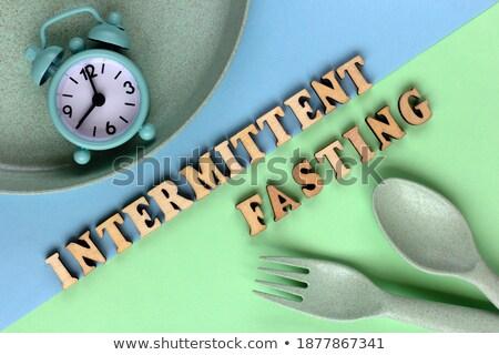 Detoxikáló szó tányér fehér üzlet egészség Stock fotó © fuzzbones0