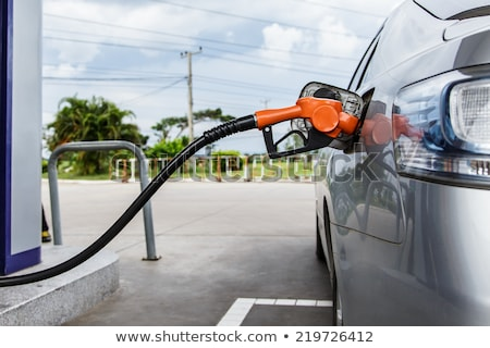 Man with oil barrel and gas pump nozzle. Stock photo © RAStudio