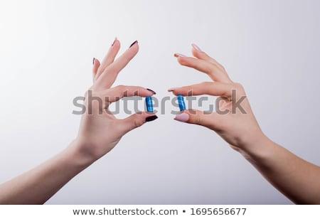 2 錠剤 ペア 白 孤立した 薬 ストックフォト © coprid