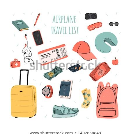 Seyahat plan yolculuk pasaport ofis Stok fotoğraf © Bigbubblebee99